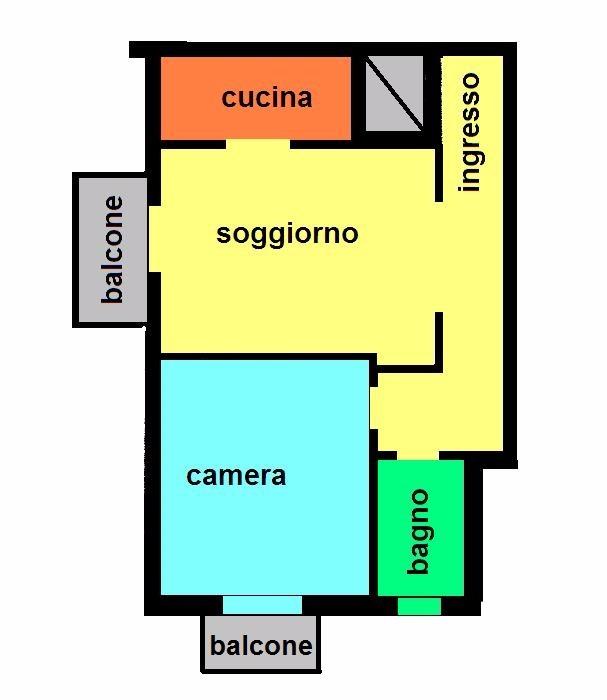 T259 Magenta: Luminoso 2 locali € 58.000