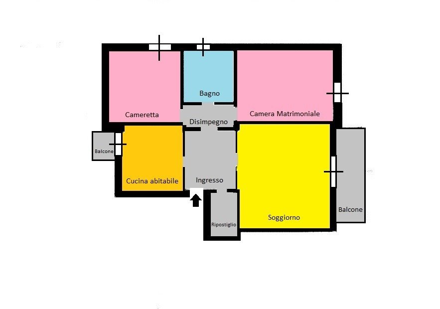 Rif. T3272 ROBECCO S/N- Zona Mercato 3 locali € 120.000