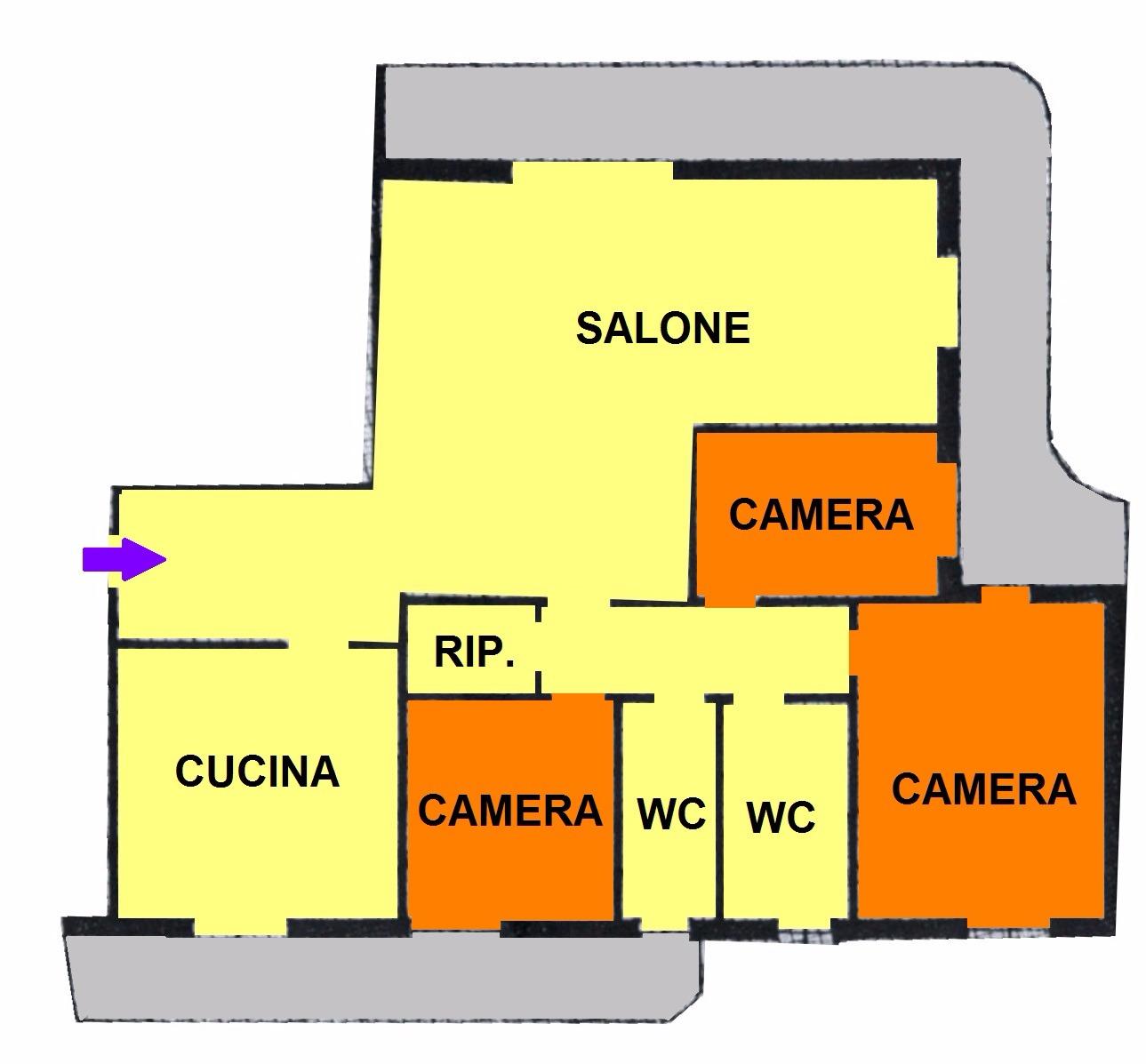 T434 SANTA RITA - 4LOCALI+2SERVIZI+P.AUTO+BOX