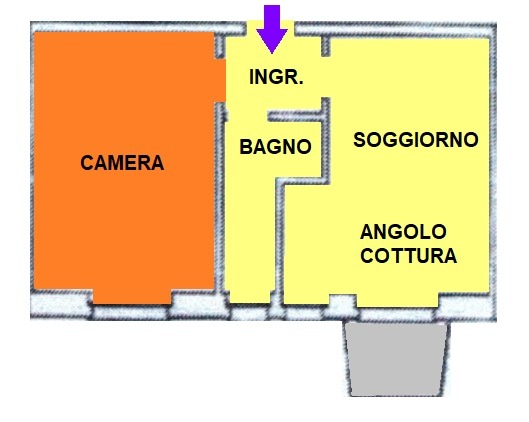 T207 SAN MARTINO - BILOCALE+SERVIZI