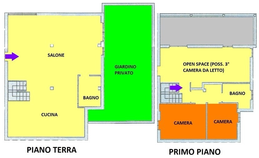 T306 SANTA RITA - 3/4LOCALI+2SERV+BOX+GIARDINO PRIV.