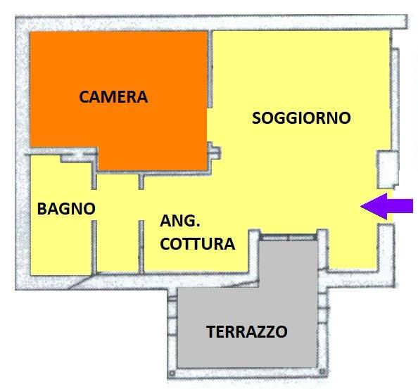 T207 PORTA MORTARA - BILOCALE+SERVIZI+ POSS. BOX