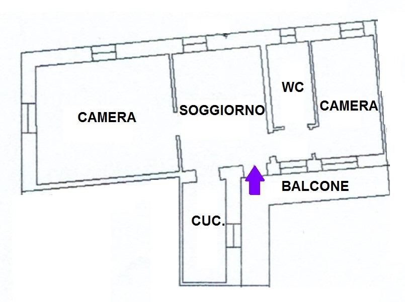 T210 SAN PAOLO - 2LOCALI+SERVIZI IN CORTE