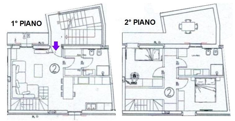 T319 PERNATE - 3LOCALI+2SERVIZI SU 2 LIVELLI