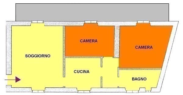 A324 BICOCCA - 3LOCALI+SERVIZI+GIARDINO NON ARREDATO