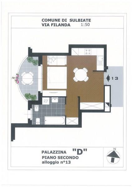 Appartamento in affitto a Sulbiate, 1 locali, prezzo € 308 | Cambio Casa.it