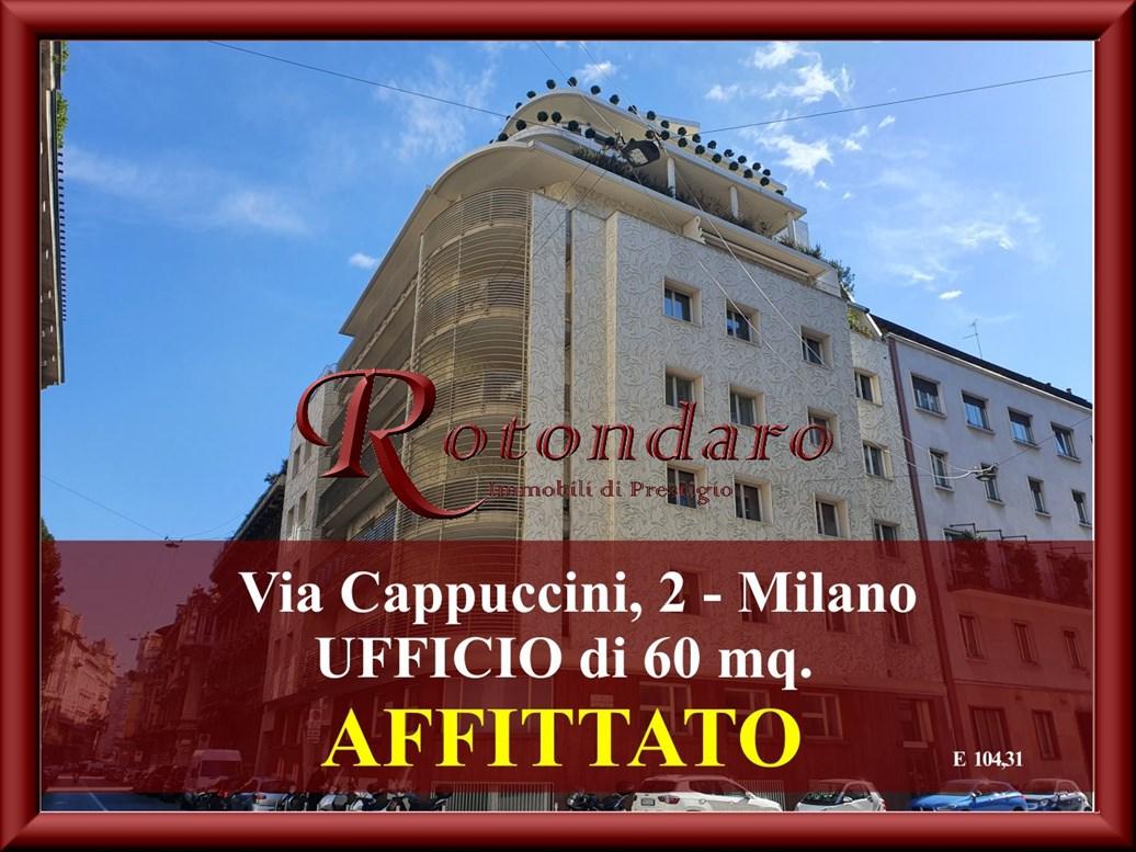 Ufficio in Affitto in Via Cappuccini Milano